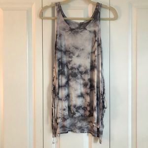 Tie-Dye tank with lacy side detailing